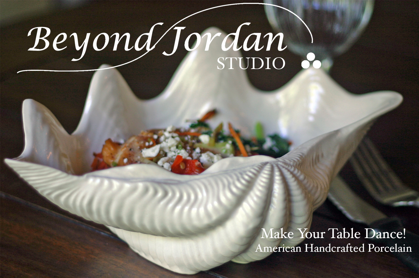 Porcelain Clam Shell Bowl