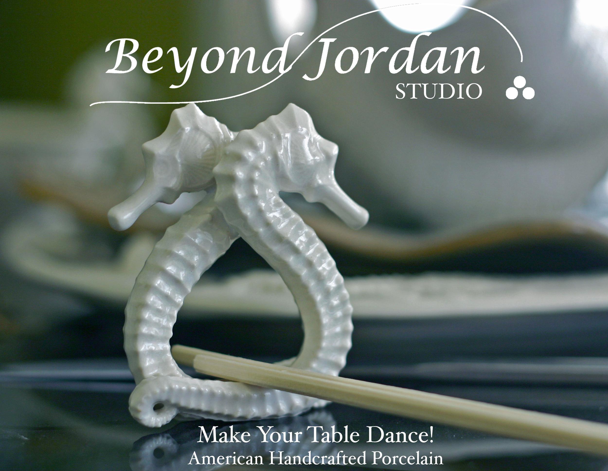 Porcelain Seahorse Choptick Holders