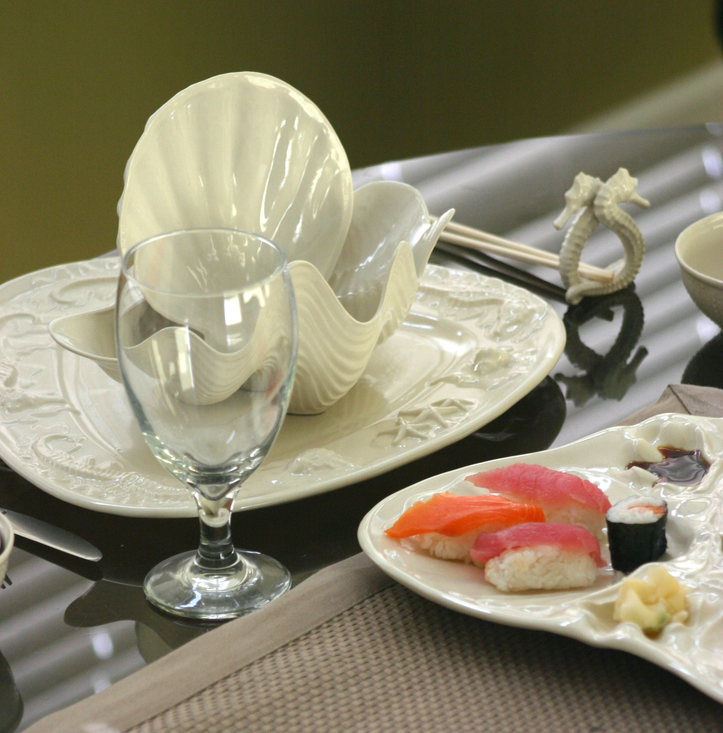 Seahorse & Starfish Platter table setting