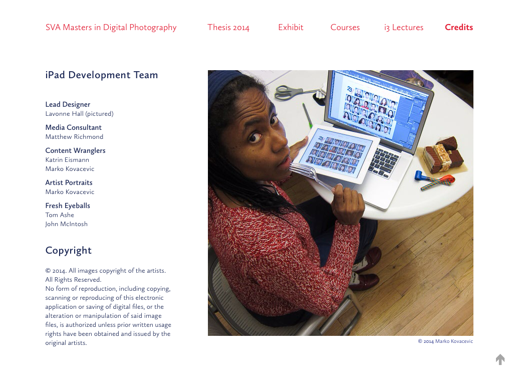 2014 iPad App for MPS in Digital Photography at SVA
