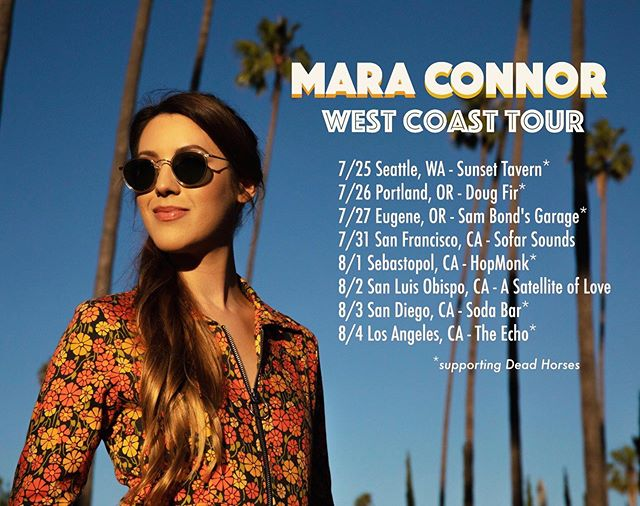 🌼 West coast I'm coming 4 u 🌼 Hitting the road with Dead Horses on their west coast summer tour. Stoked to share the stage with them from Seattle to San Diego. 🧡 📷 @photobychase