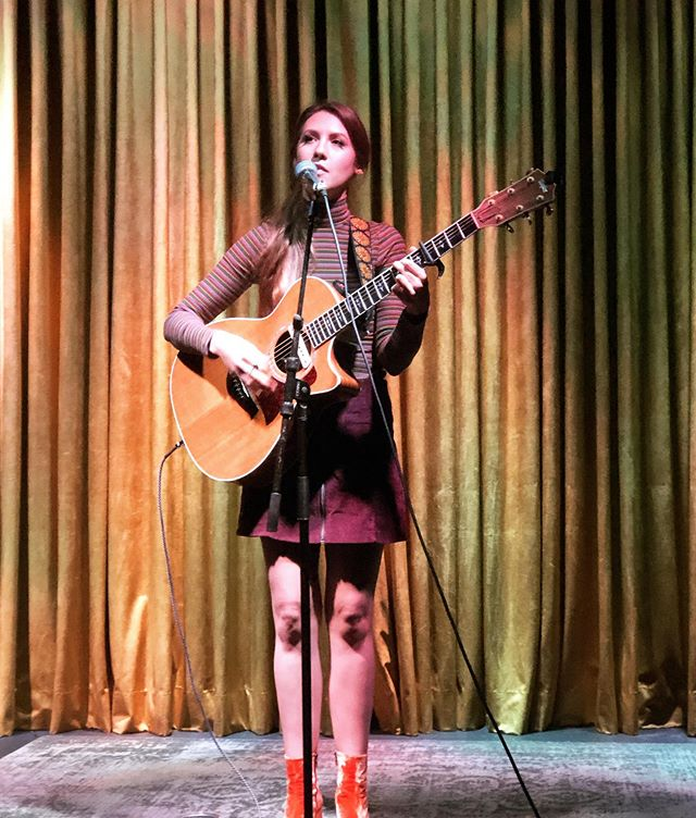 Back in the glow of @golddiggersla tonight to celebrate my friend @willfoxsongs' beautiful new record. I'm on at 8, Will's band at 9. 💫  P.S. tour starts in one week...! 📷@jafreed430