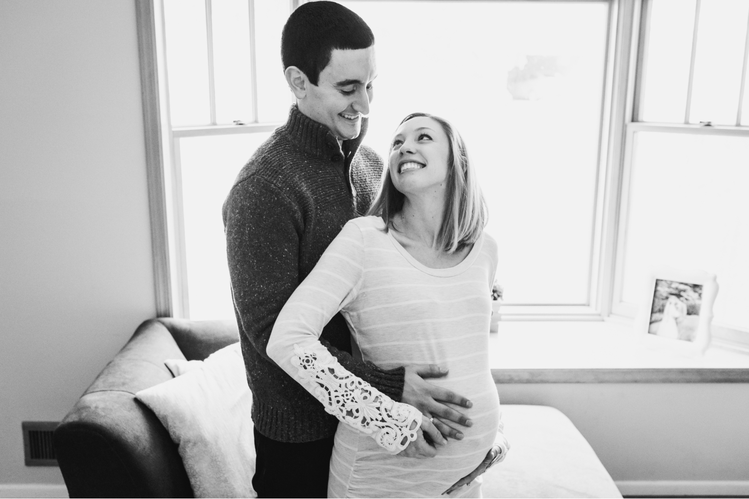 In-Home Maternity Pictures Morris County New Jersey