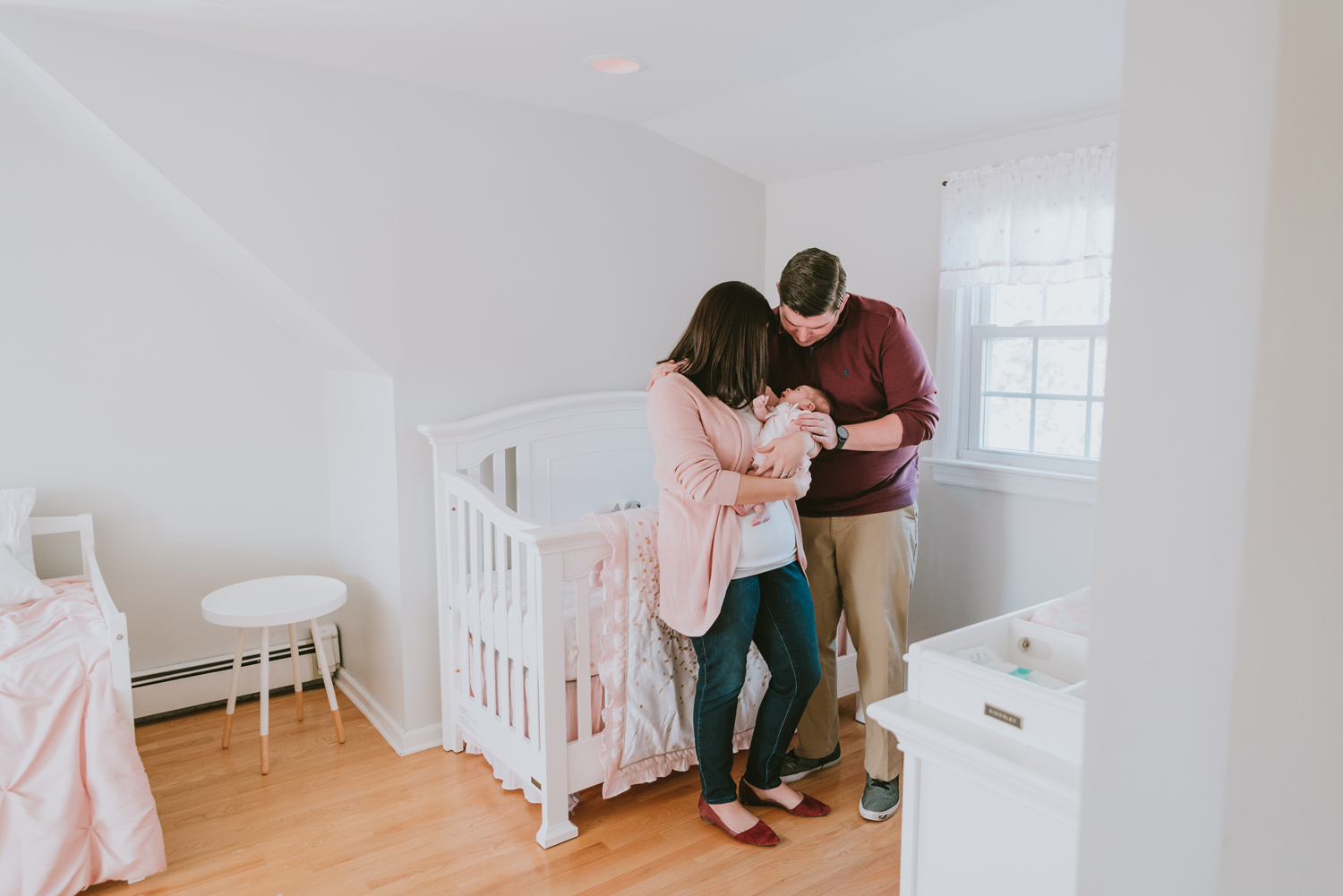 New-Family-In-Nursery-Newborn-Photography-Session-Wood-Ridge-New-Jersey