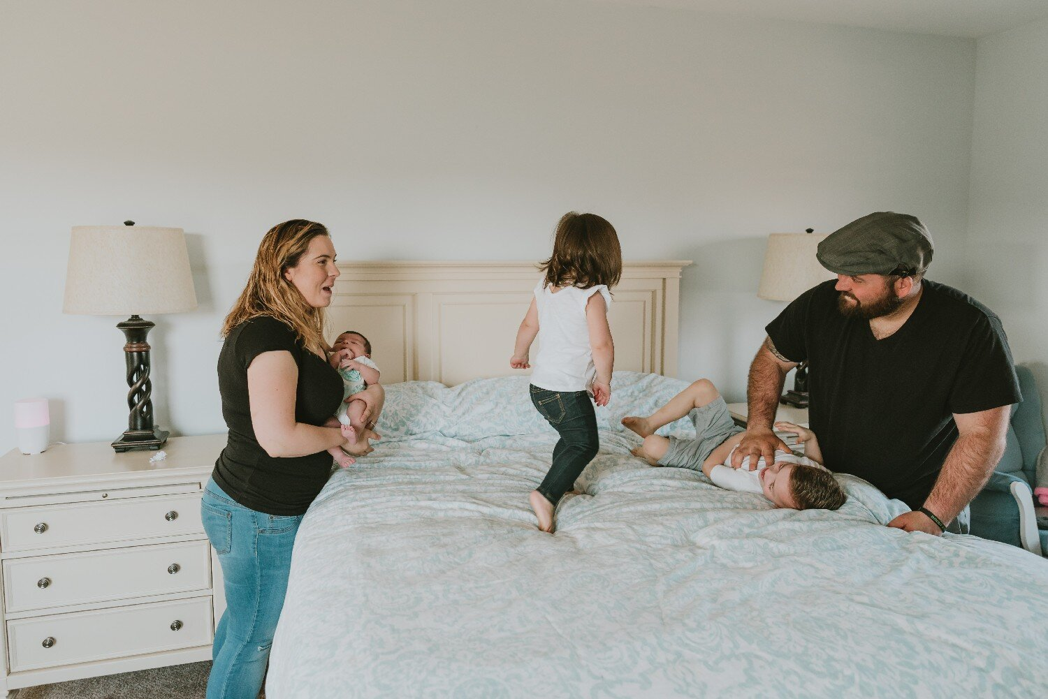 Family Fun During Newborn Photography Session