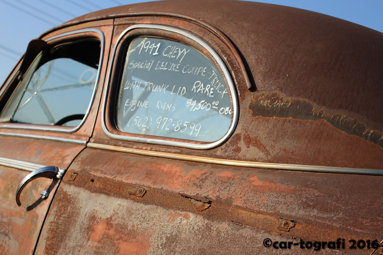 1941 Chevy in the rust car-tografi