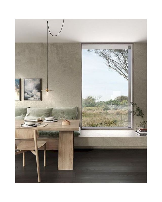 The Piermont Project on the eastern coast of Tasmania. Designed by Jackson Clements Burrows Architects in Melbourne. Photographed by Gabriel Saunders.⁠ ⁠ ⁠ #architecture #interiors #view #landscape #details #materials #wood #plaster #australia #international #minimalist #modern view #relax  #disconnect