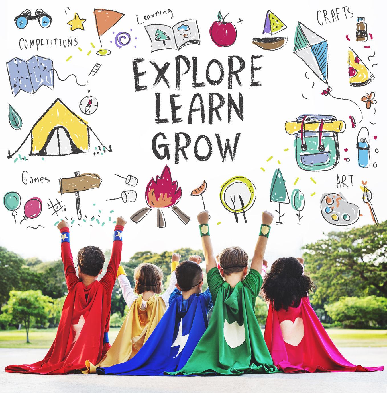 59906002 - summer kids camp adventure explore concept
