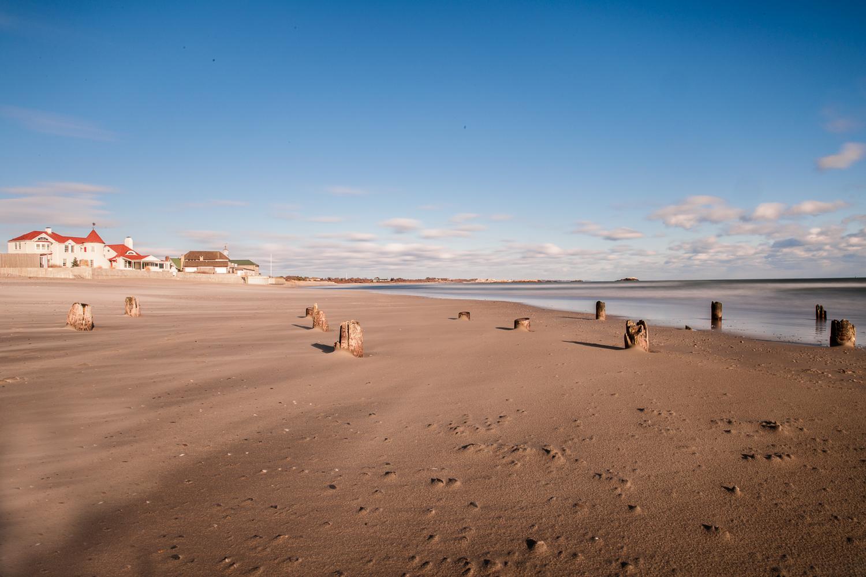 Narragansett Town Beach and Dunes club in winter