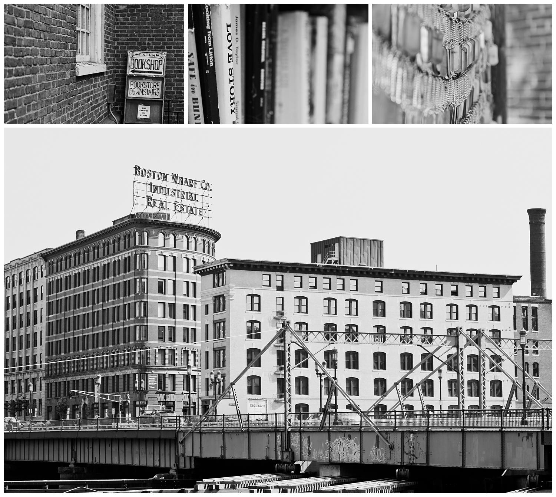 black and white photos of Boston, MA