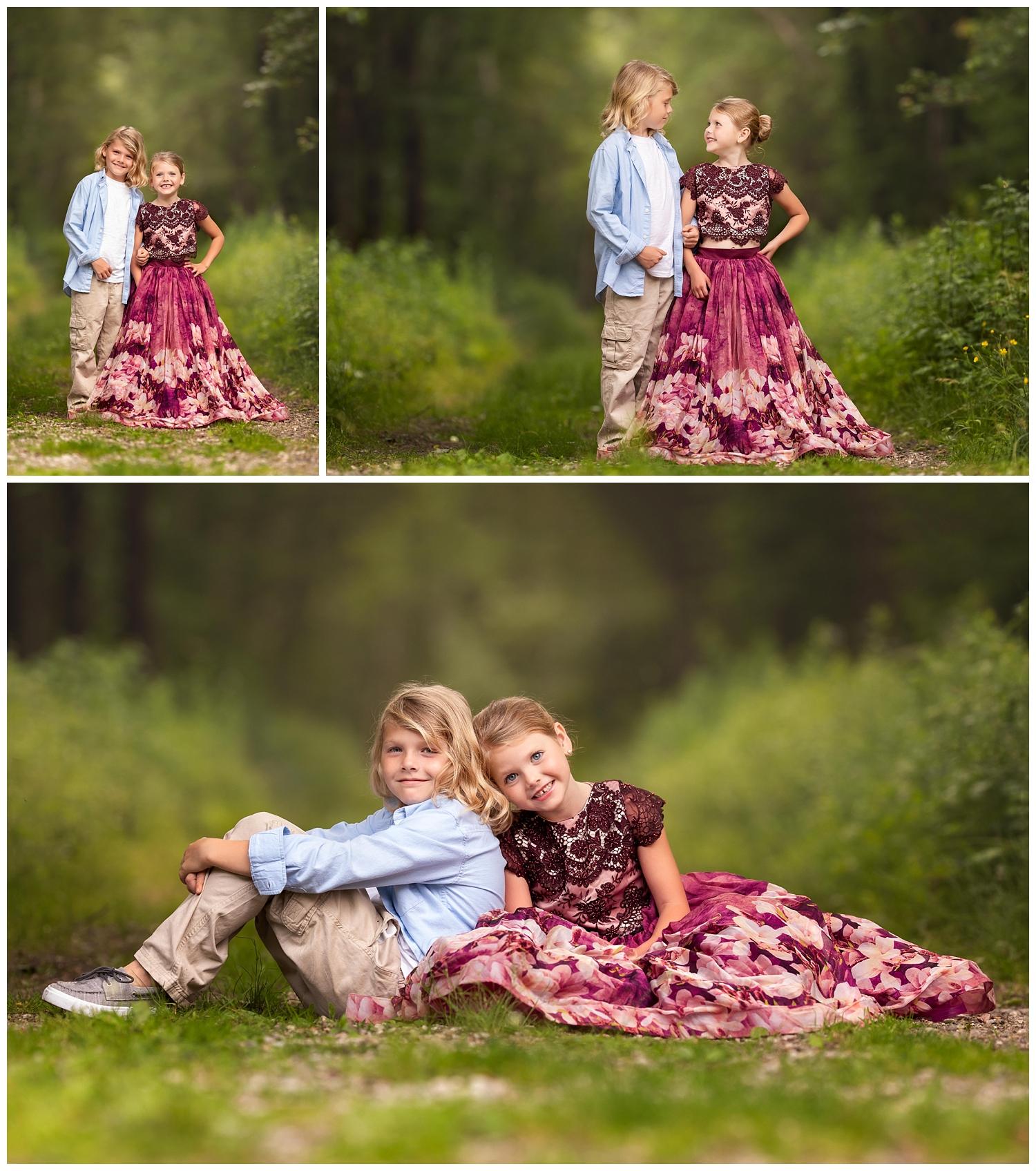sibling photo shoot in South Kingstown, RI