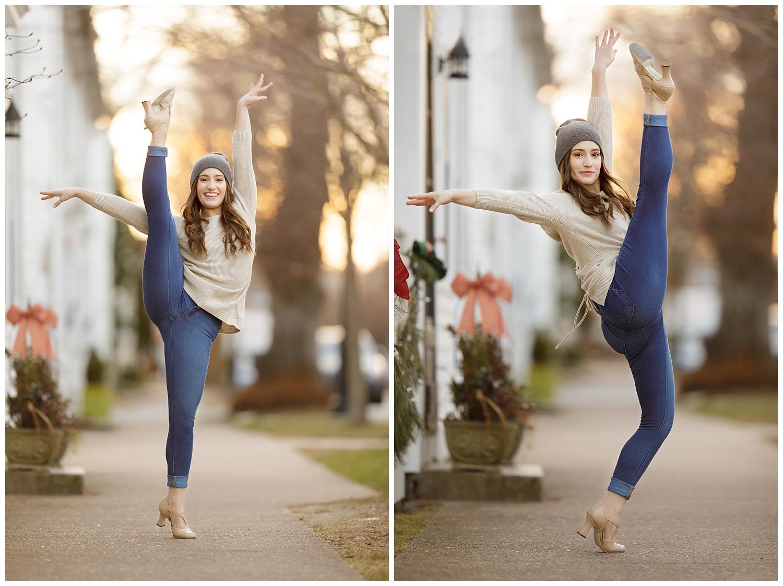 dancer doing kicks in Wickford, RI