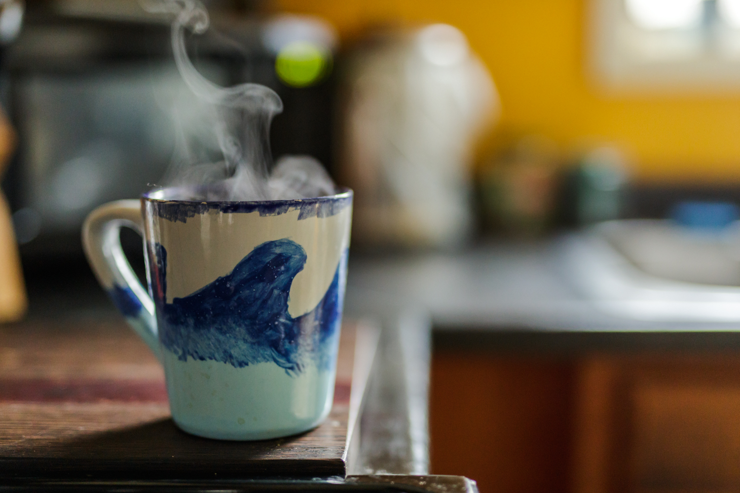 coffee mug with steam