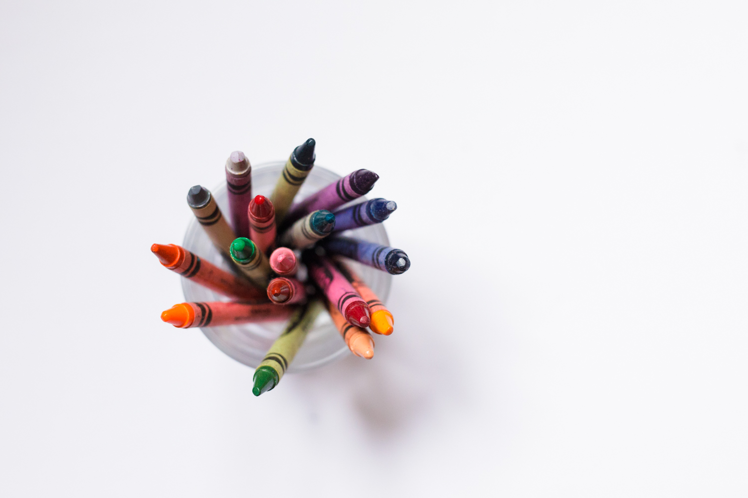 crayons in a glass