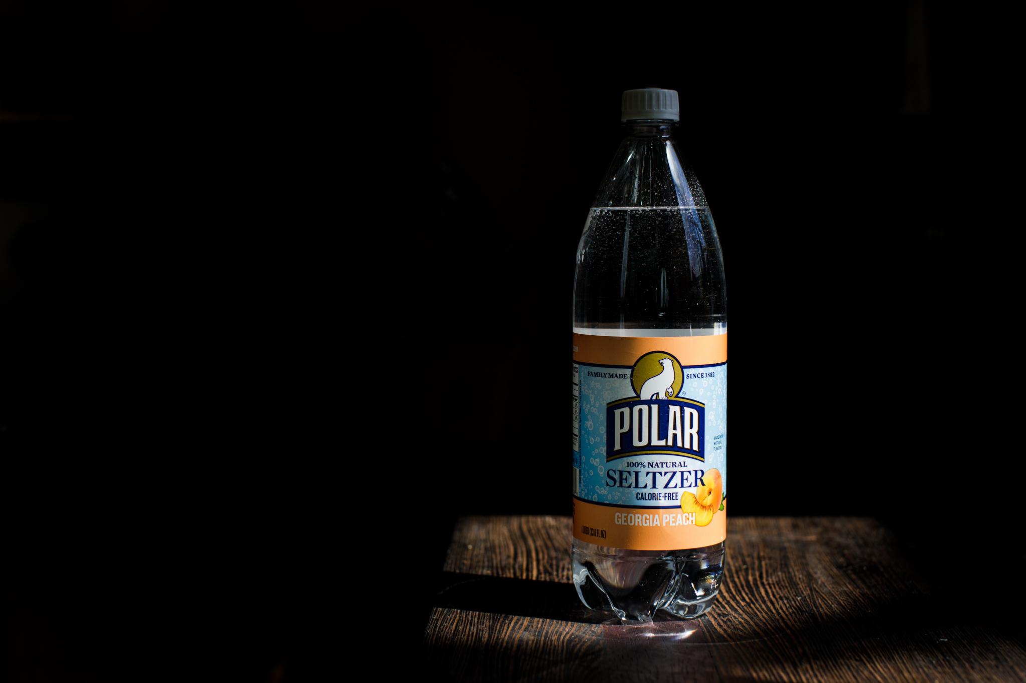 Peach flavored Polar seltzer