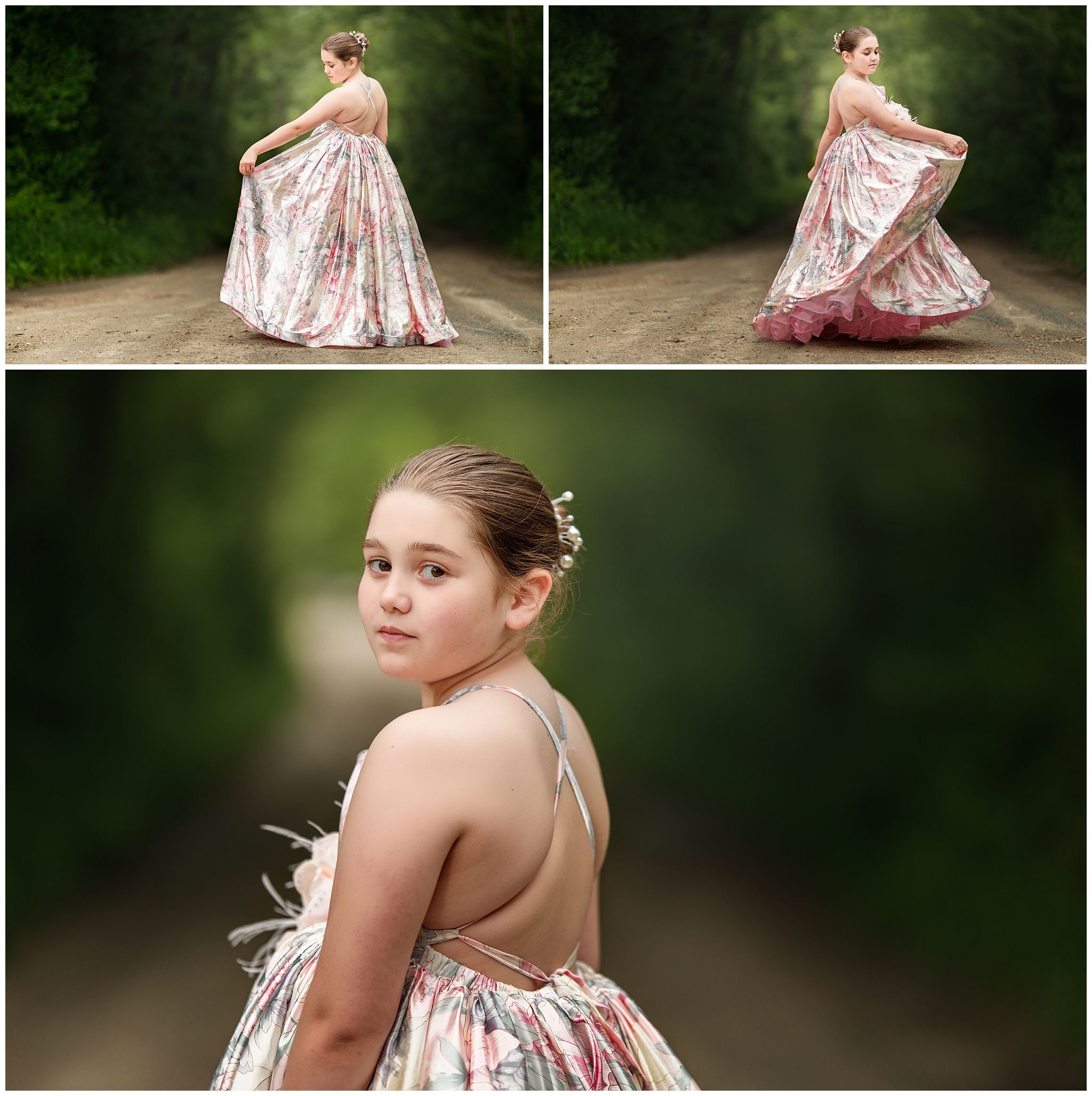 portraits of a girl in the woods in North Kingstown, RI