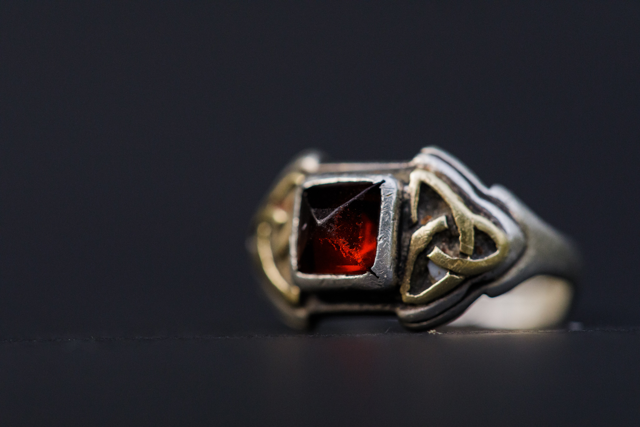 ring with garnet