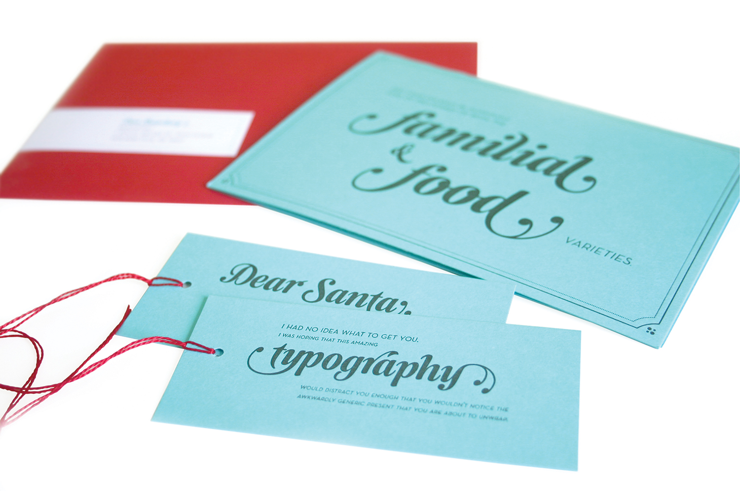 Julie Rado Design Christmas Card & Gift Tag Self-Promotion