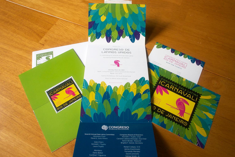 Congreso 2013 Gala Latina Identity & Collateral, Julie Rado/Untuck Design