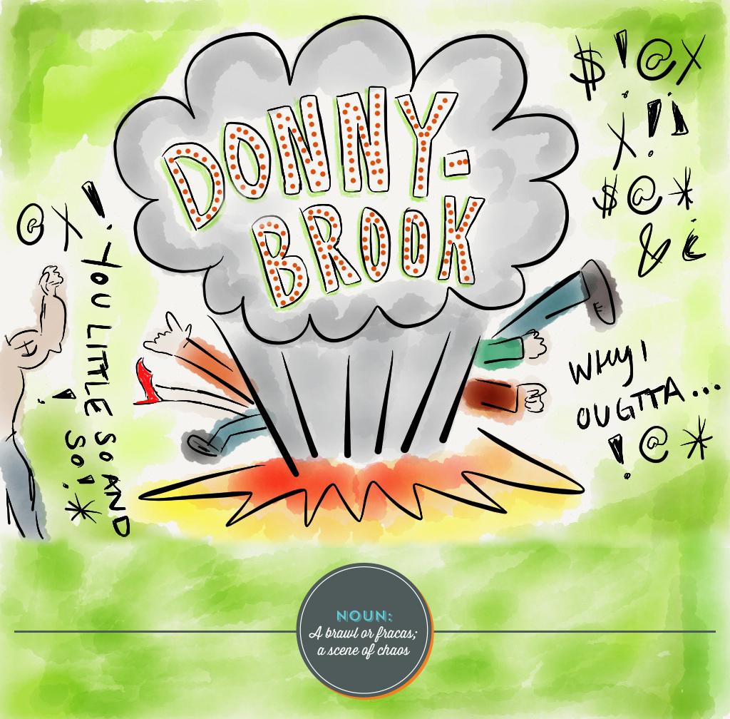 Donnybrook illustration, Julie Rado Design