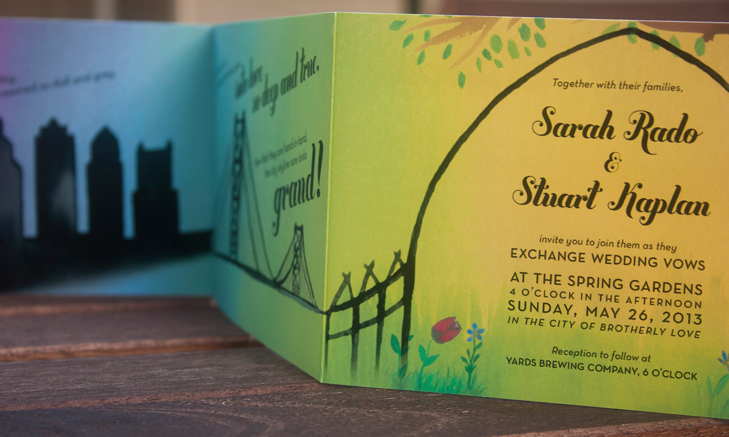 Sarah & Stu wedding invitations, Julie Rado Design