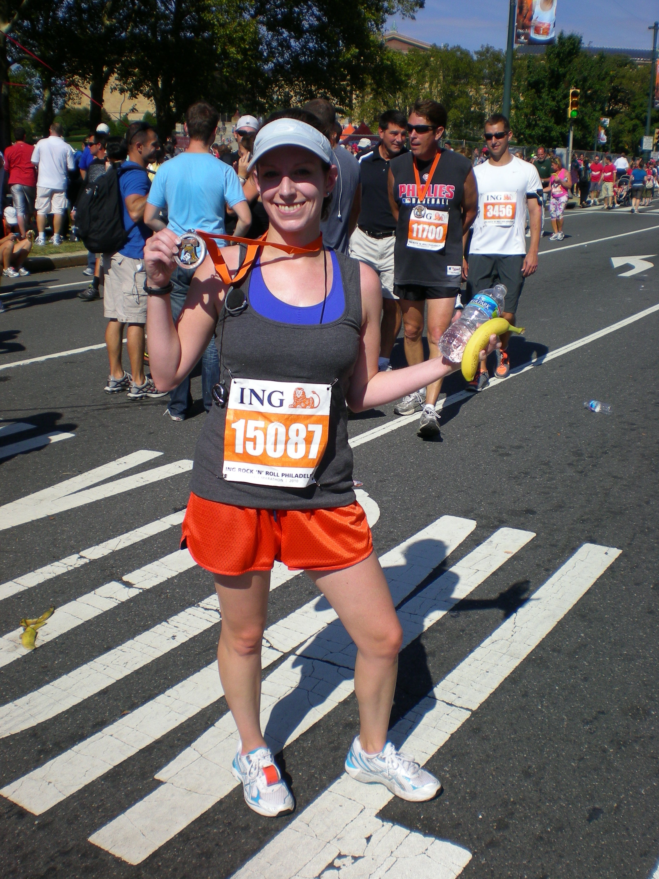 Shortly before peg leg-itis set in at my last half marathon.