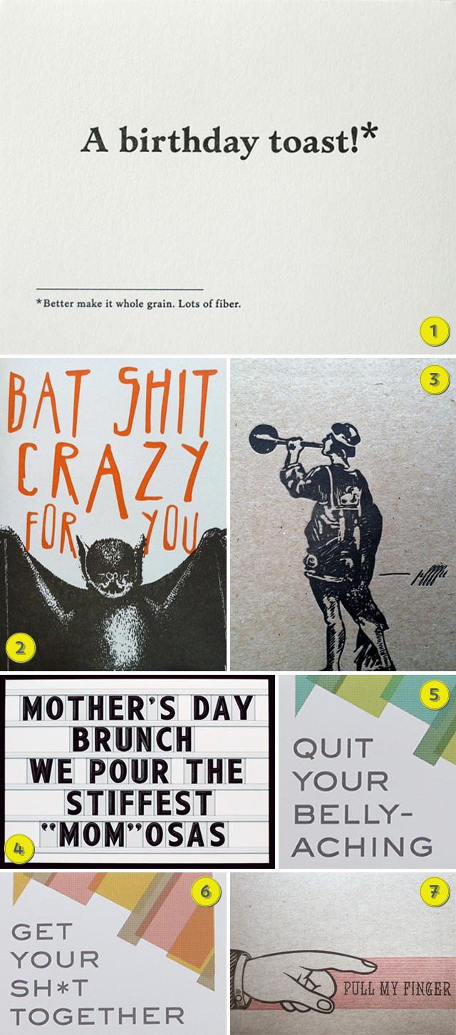 Julie Rado Design: favorite greeting cards that aren't sappy