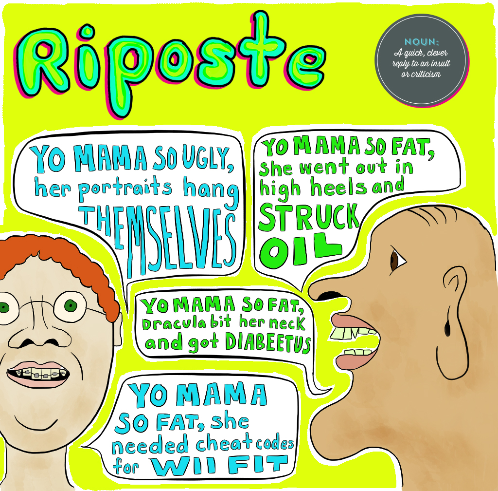 Visual Vocabulary: riposte illustration, Julie Rado Design