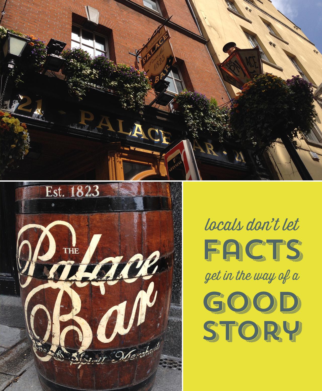 The Palace Bar in Dublin.