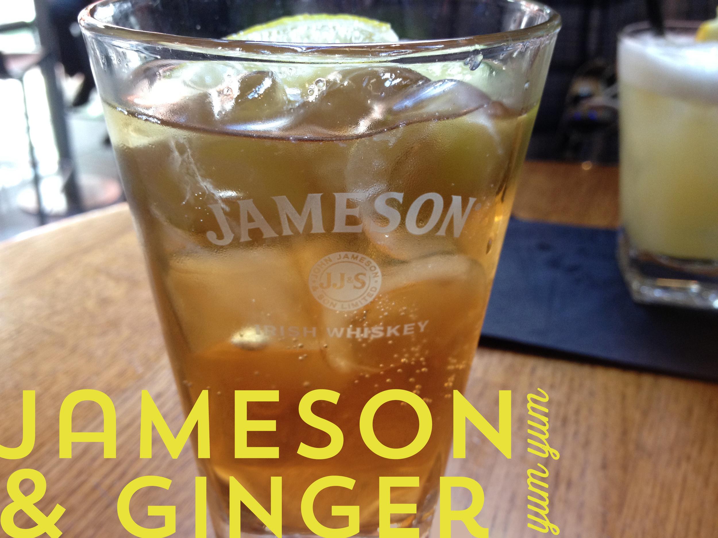 Jameson & Ginger: my new favorite drink.