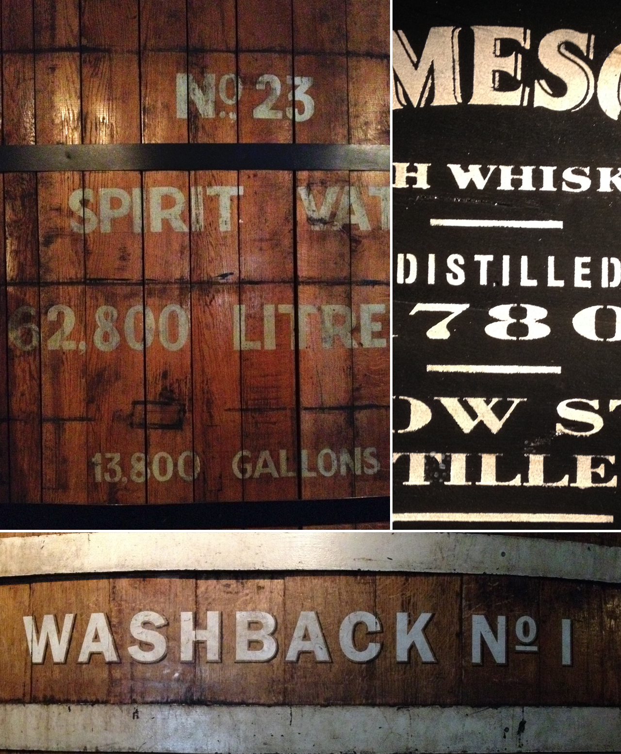 Good old fashioned hand type at the Jameson distillery.
