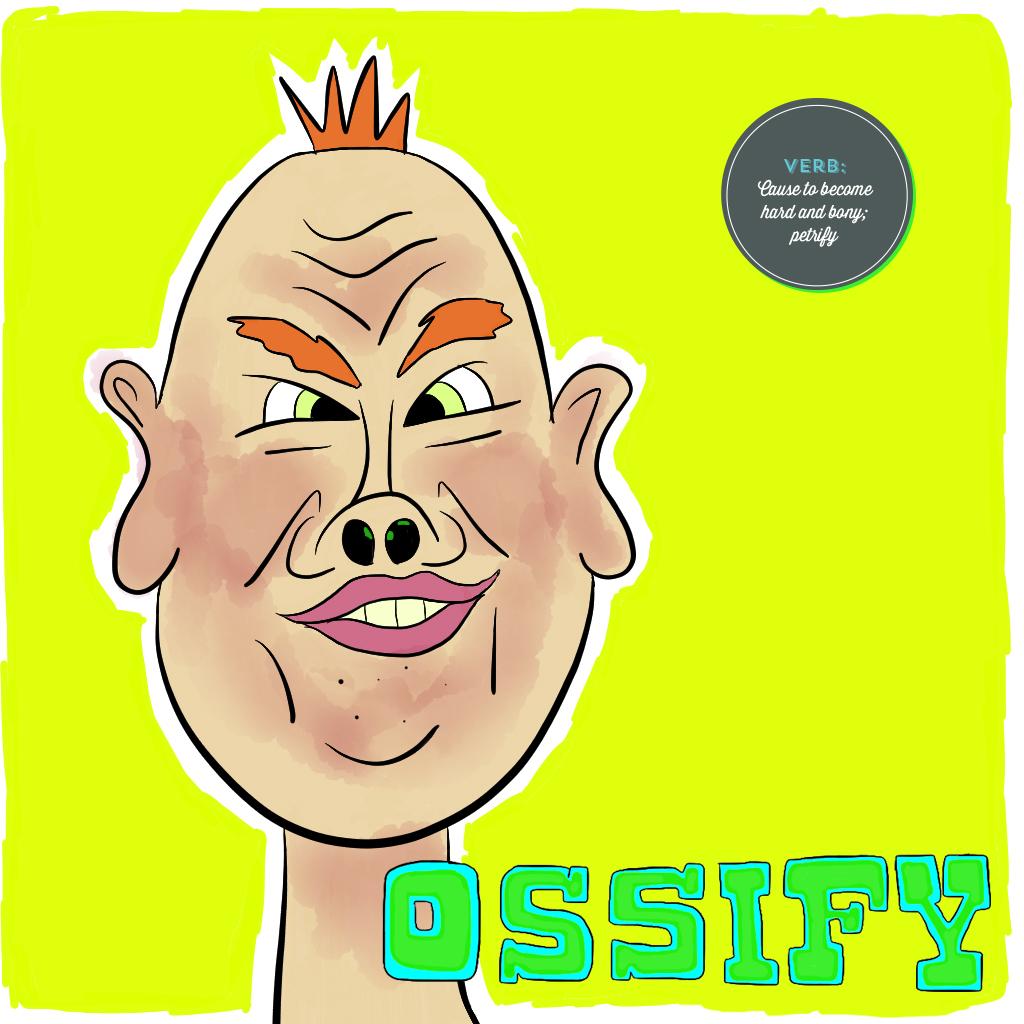Visual Vocabulary: ossify, Julie Rado Design