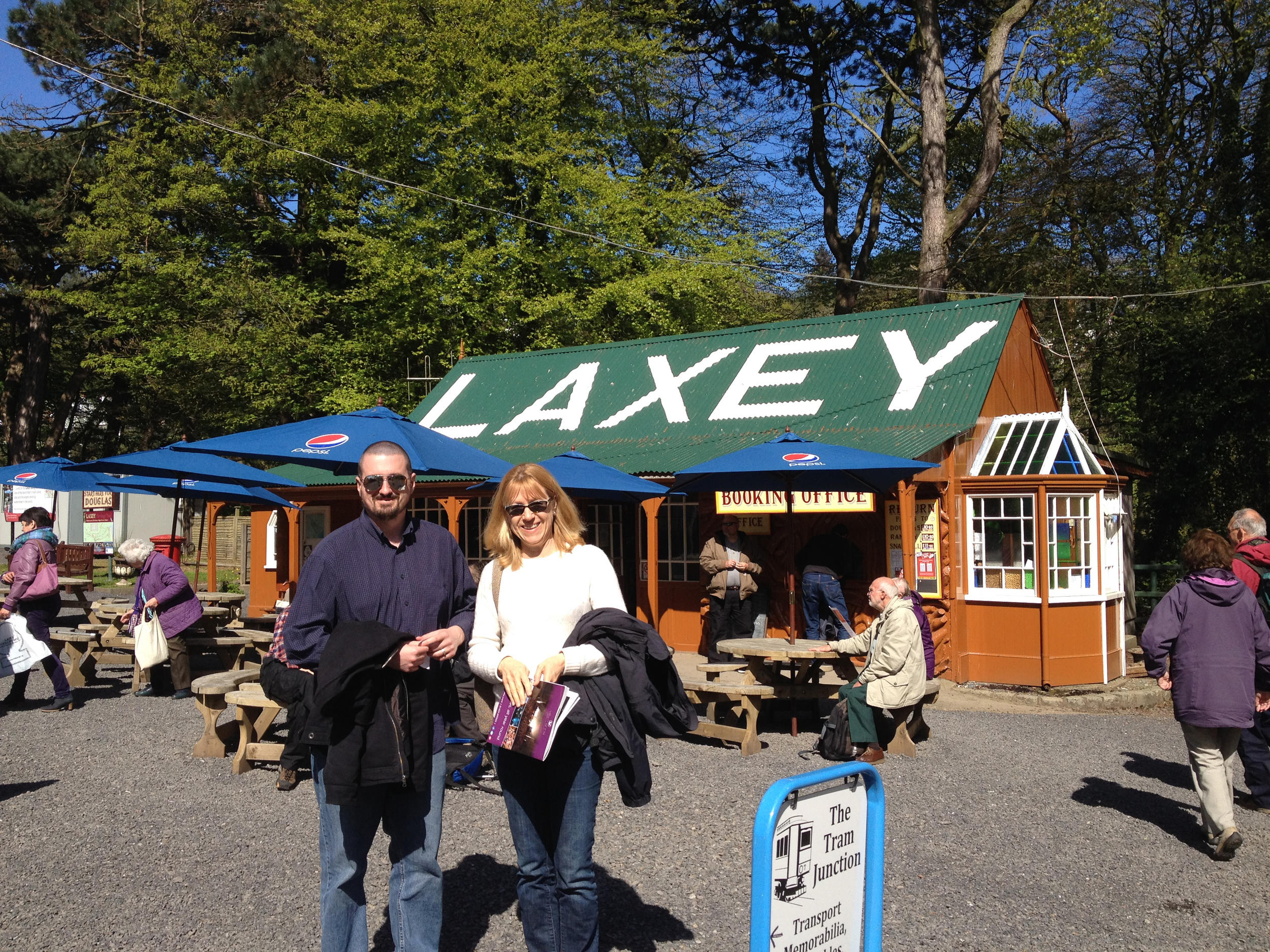 Take the last train to Laxey and I'll meet you at the station.