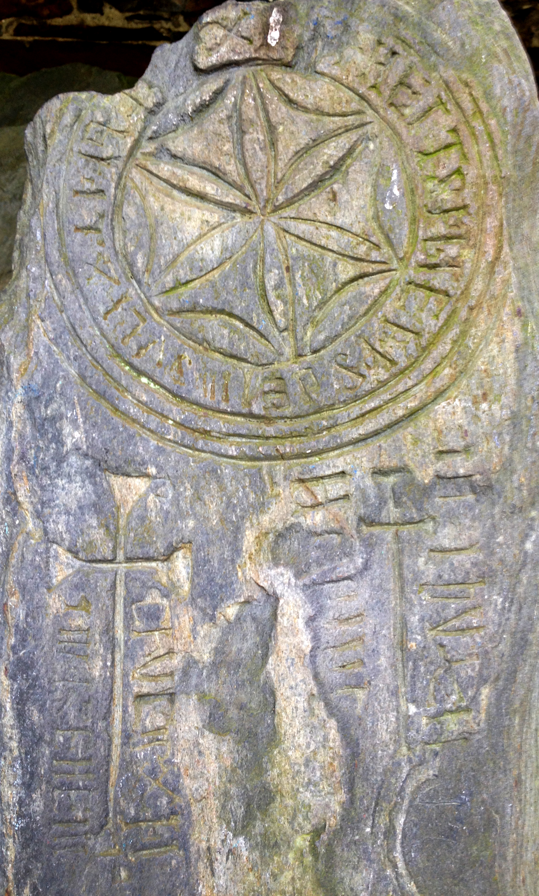 Ancient Celtic cross from Maughold.