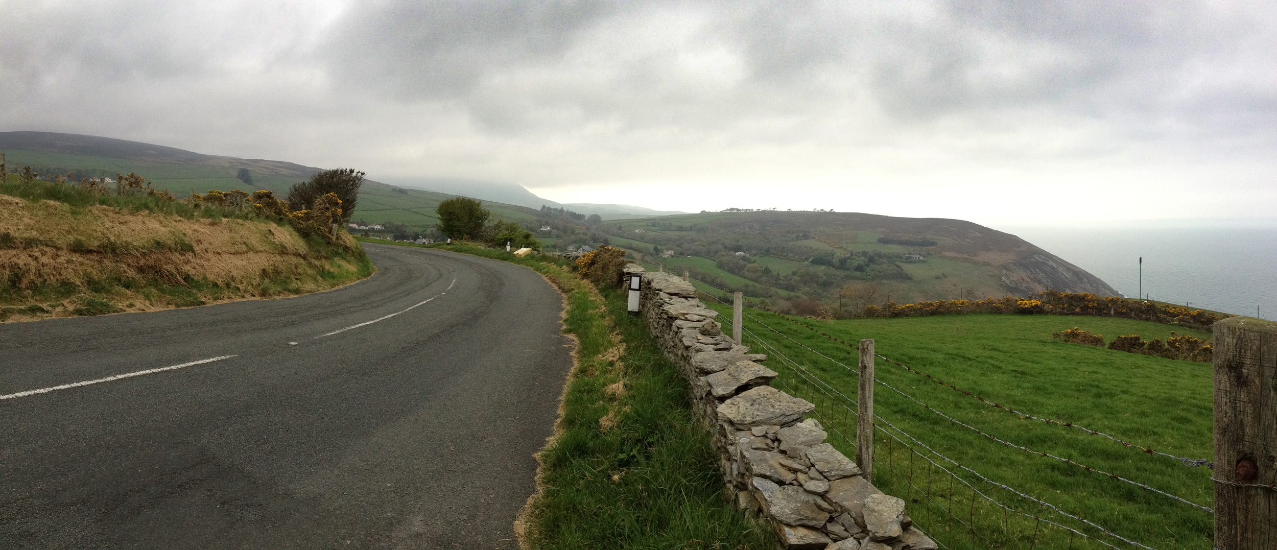 View from my run in the Isle of Man.