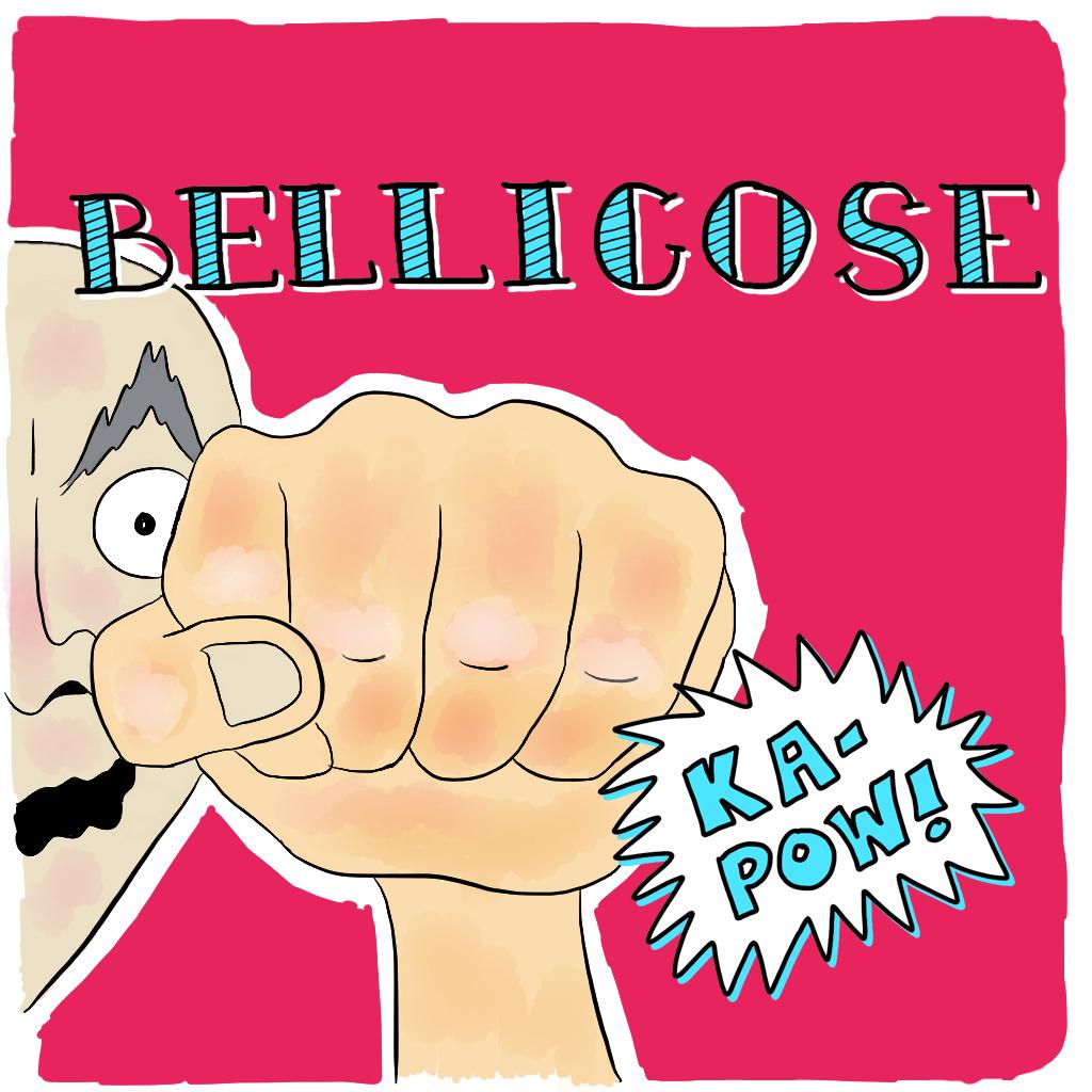 Visual Vocabulary: bellicose, Julie Rado Design