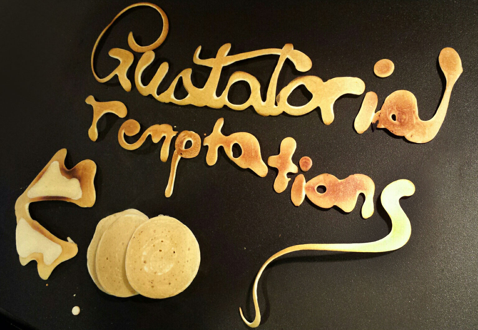 Visual Vocabulary: gustatorial illustration (in pancake batter!) by Sarah Rado