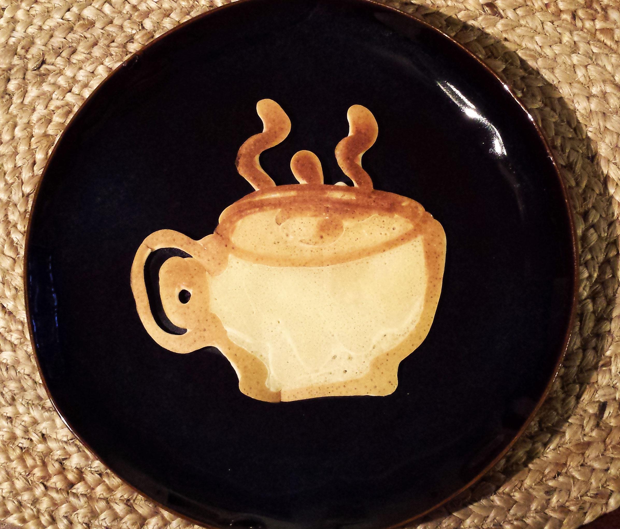 Visual Vocabulary: coffee illustration (in pancake batter!) by Sarah Rado