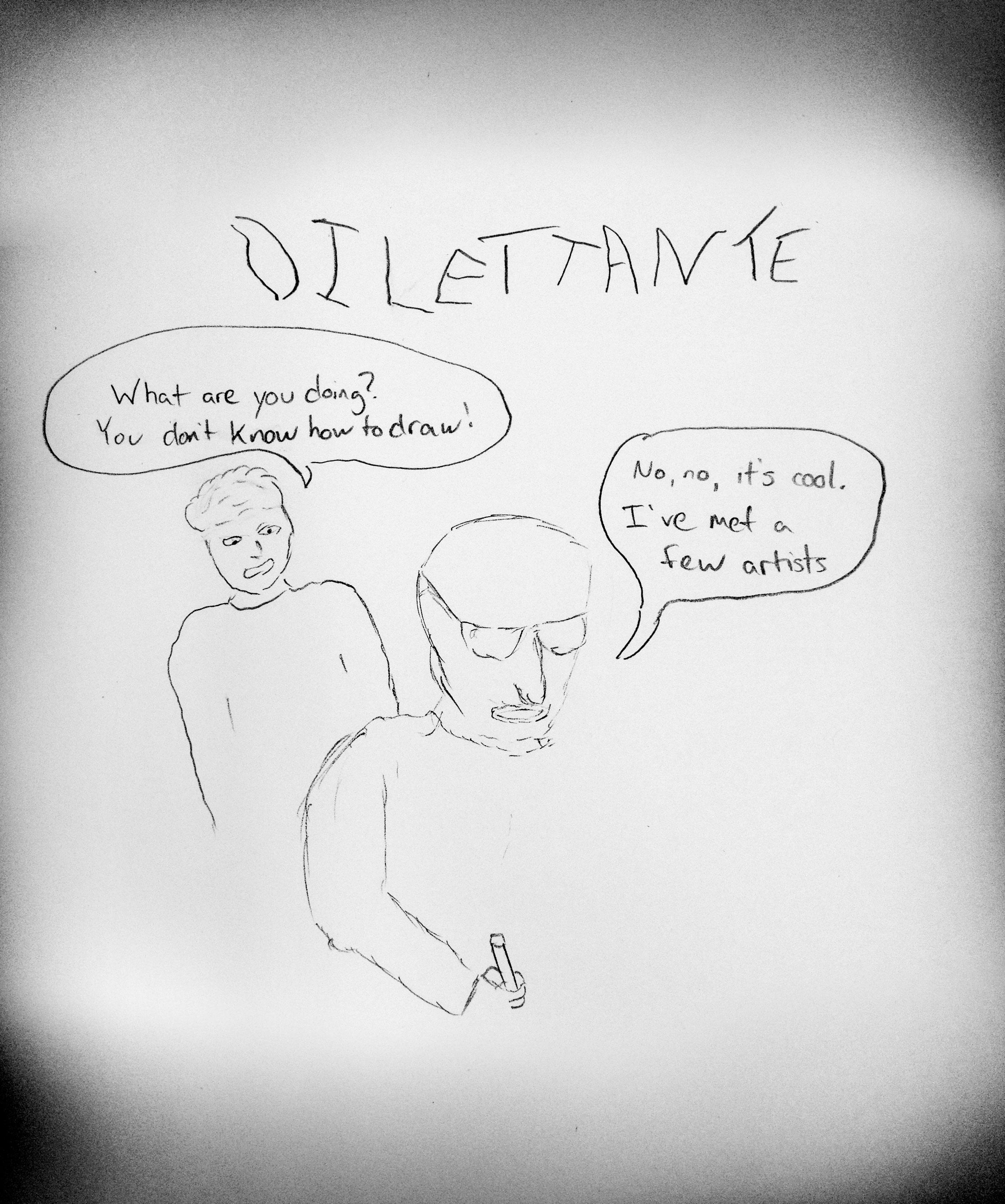 Visual Vocabulary: dilettante illustration by Scott Davis