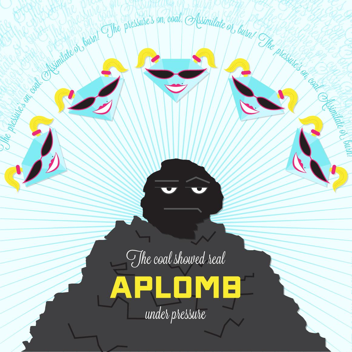 Visual Vocabulary: aplomb, Julie Rado Design