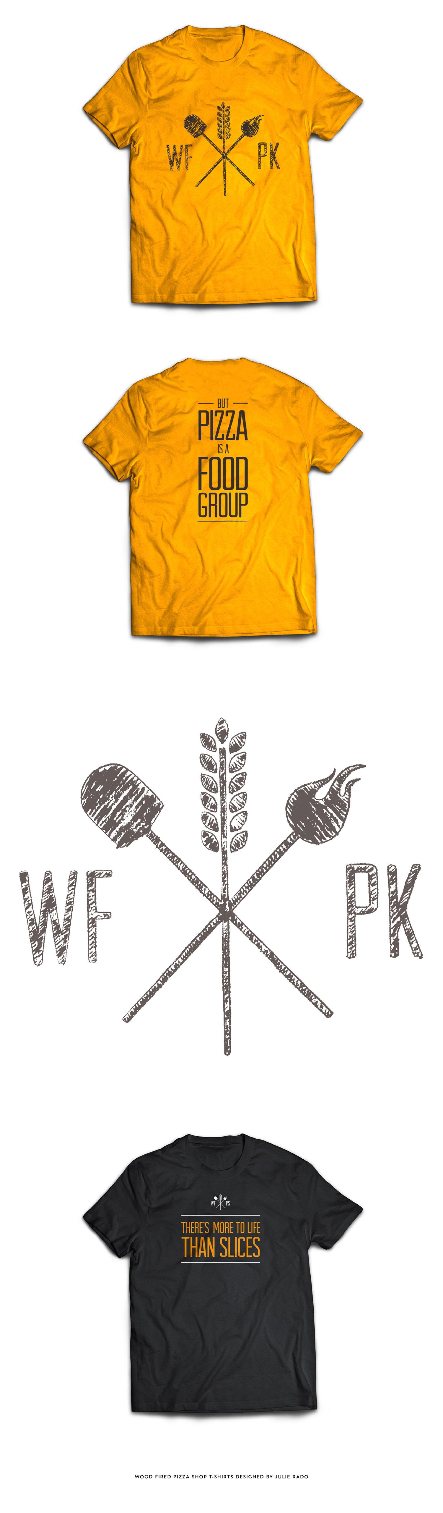 Wood Fired Pizza Shop T-Shirts designed by Julie Rado