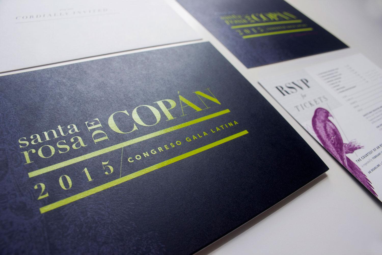 Congreso 2015 Gala Latina Identity & Collateral designed by Julie Rado / John Saal / Amy Saal at Untuck Design