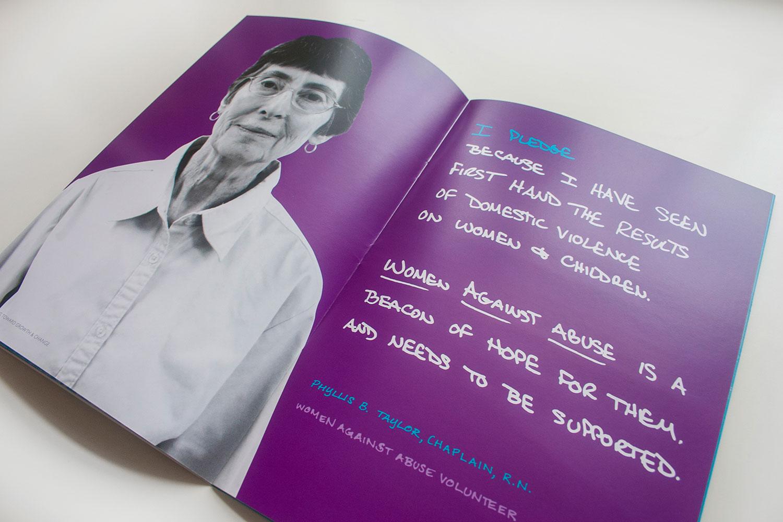 Women Against Abuse 2014 Annual Report & Strategic Plan designed by Julie Rado / John Saal / Amy Saal at Untuck Design