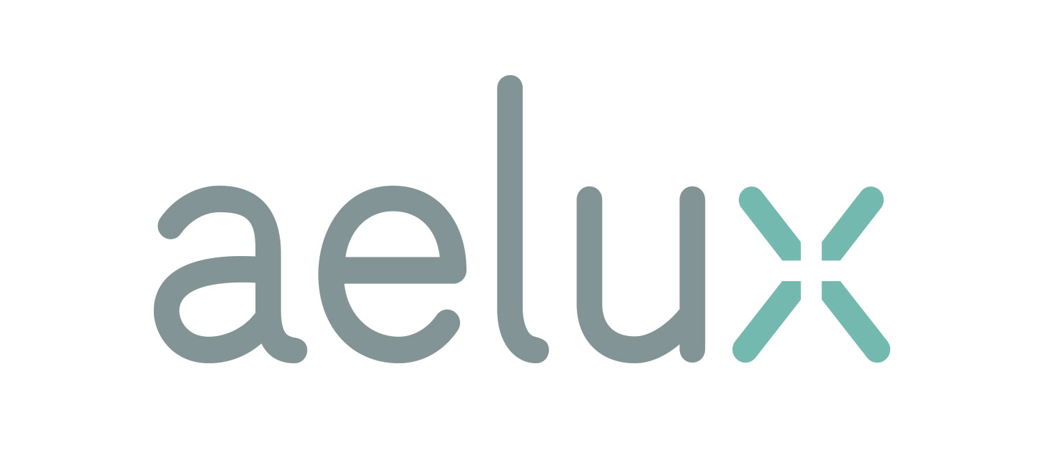 Aelux Logo & Collateral designed by Julie Rado / John Saal / Amy Saal at Untuck Design