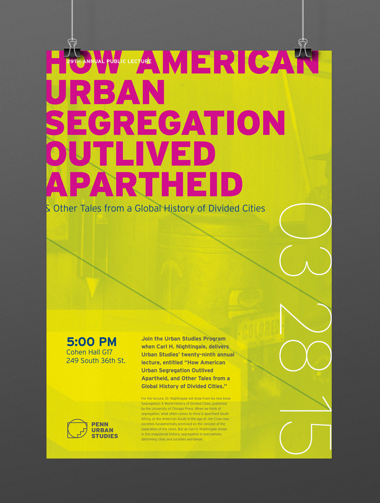 Penn Urban Studies Event Collateral designed by Julie Rado / John Saal / Amy Saal at Untuck Design