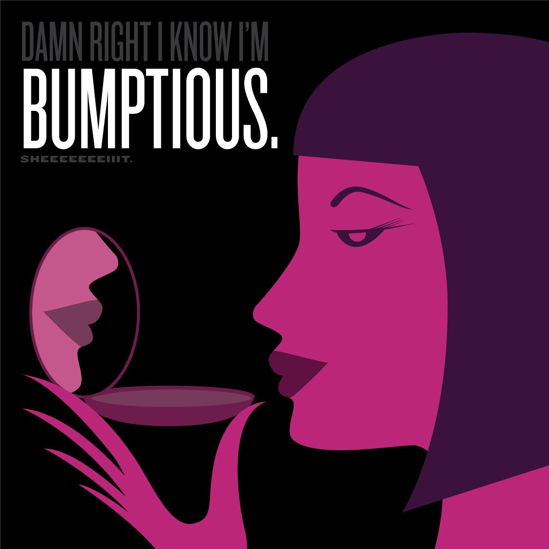 Visual Vocabulary: bumptious, Julie Rado Design