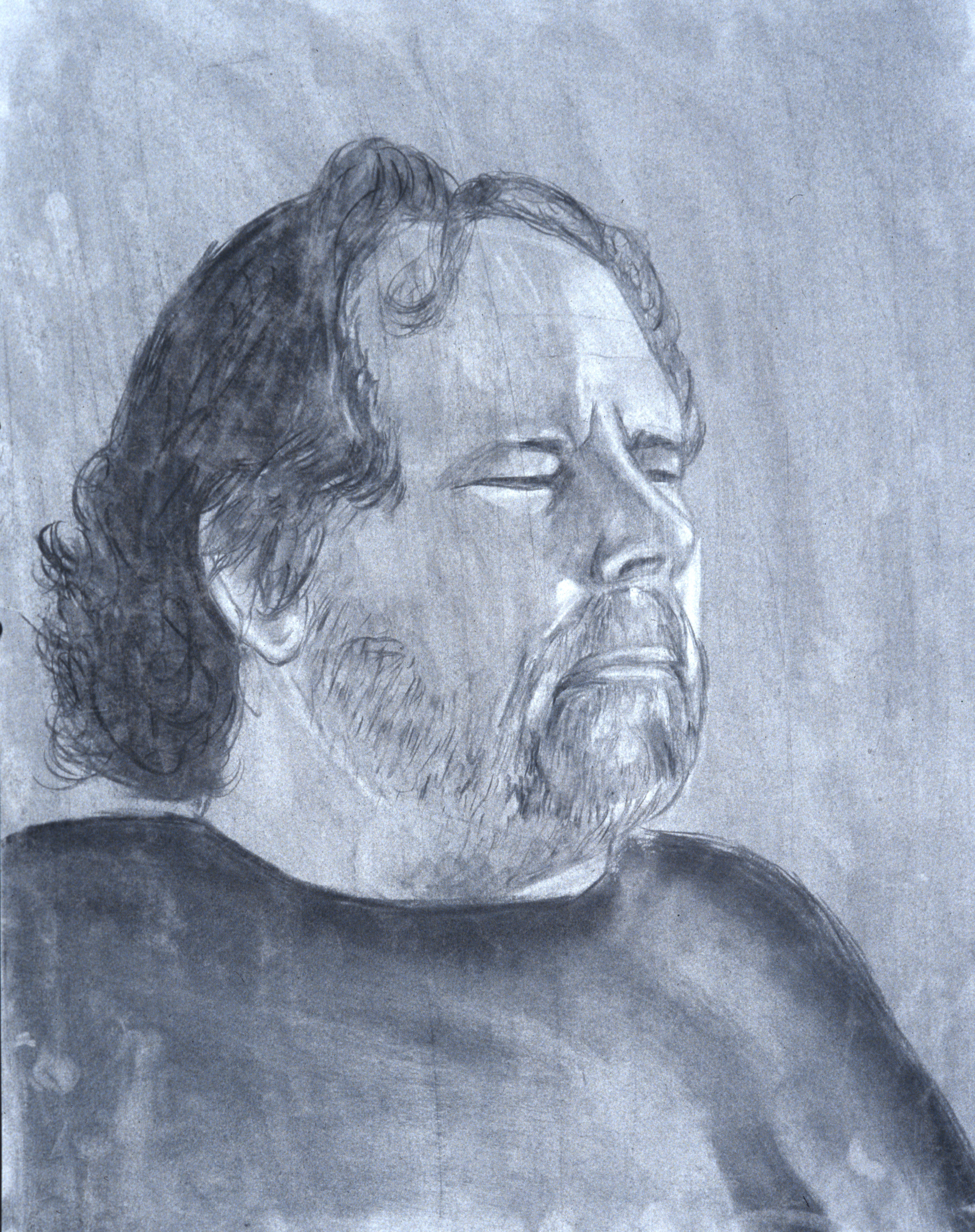 Portrait; charcoal drawing