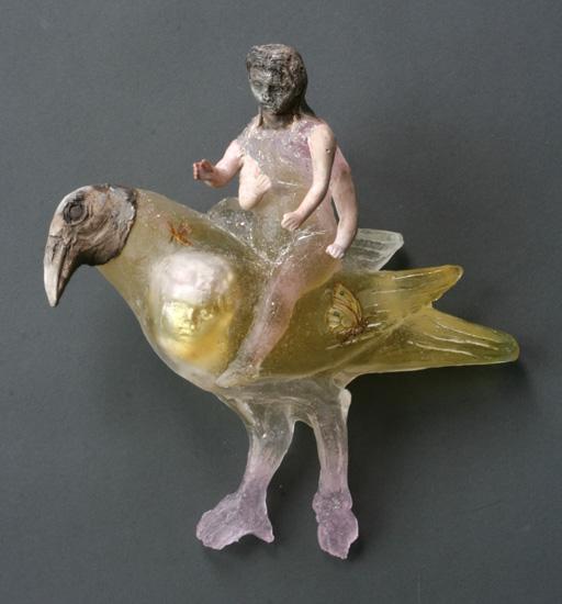Lord Vishnu Riding on Garuda  by Christina Bothwell