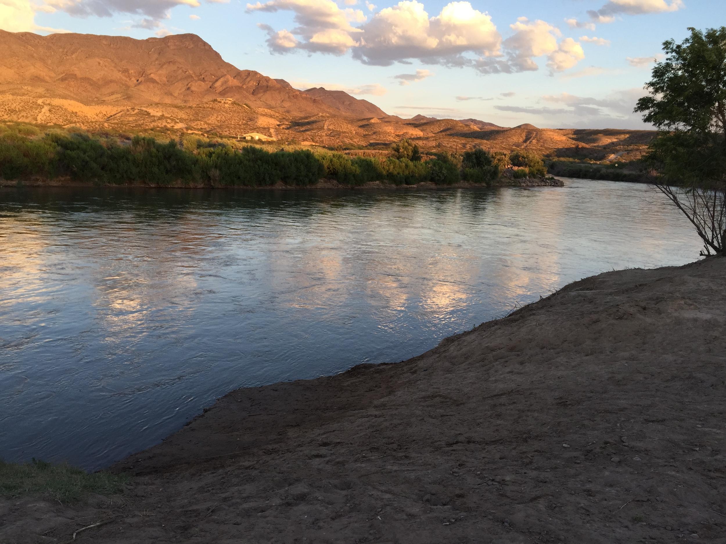 The Rio Grande river....