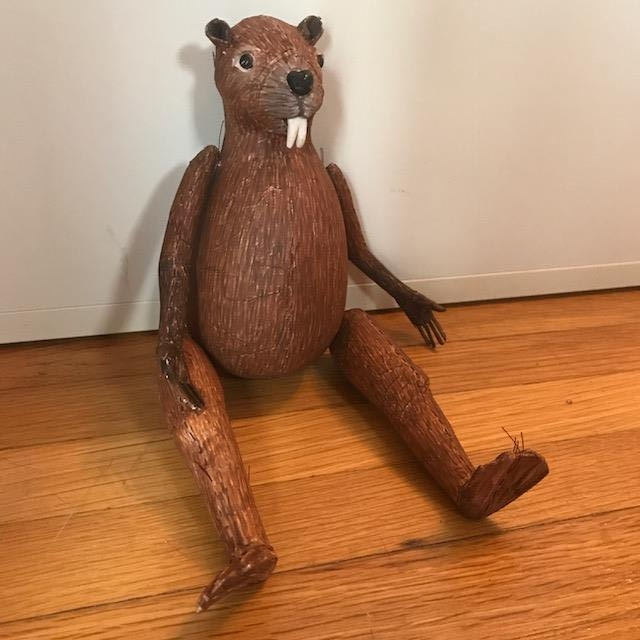beaver sculpture paperclay fine art